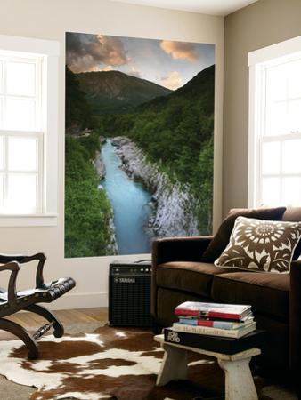 Soca River and Limestone Gorge from Napoleon Bridge