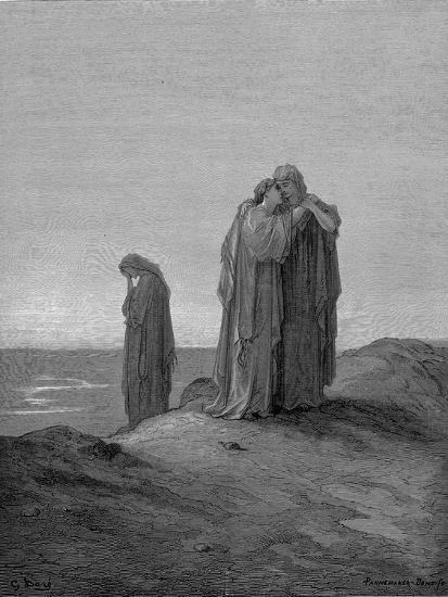 Ruth Embracing Her Mother-In-Law Naomi and Promising to Stay with Her Now They are Bereaved, 1866-Gustave Dor?-Giclee Print