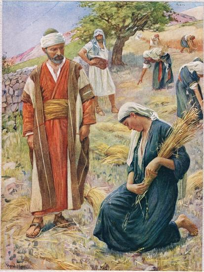 Ruth, Illustration from 'Women of the Bible', Published by the Religious Tract Society, 1927-Harold Copping-Giclee Print