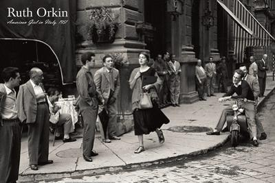 American Girl in Italy, 1951 by Ruth Orkin
