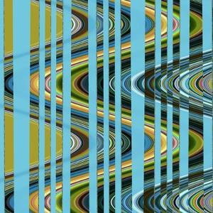 Retro Waves III by Ruth Palmer 3