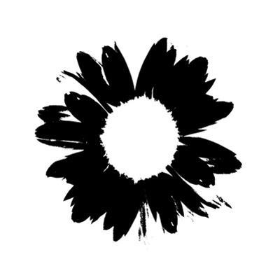 Black And White Abstract Daisy by Ruth Palmer