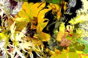 Sunflower Series Garden Variety Cat by Ruth Palmer
