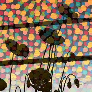 Wild Poppy Silhouette by Ruth Palmer