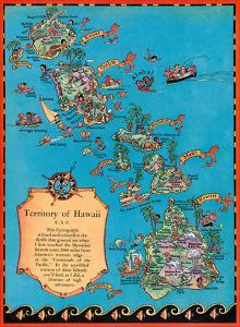 Territory of Hawaii Map by Ruth Taylor White