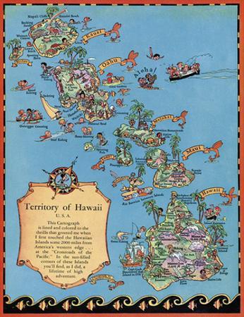 Territory of Hawaii Map