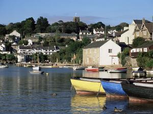 Across Water from Noss Mayo to the Village of Newton Ferrers, Near Plymouth, Devon, England, UK by Ruth Tomlinson