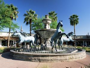 Bronze Horse Fountain in the Up-Market 5th Avenue Shopping District, Scottsdale, Phoenix, USA by Ruth Tomlinson
