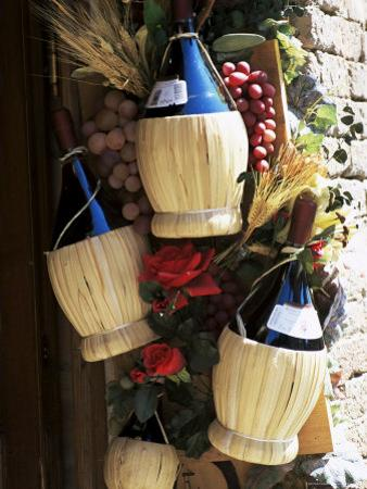 Display of Local Wine for Sale, Siena, Tuscany, Italy