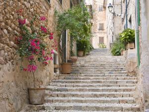 Flight of Steps in the Heart of the Village Fornalutx Near Soller, Mallorca, Balearic Islands, Spai by Ruth Tomlinson