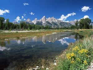 from Schwabacher's Landing Across the Snake River to the Teton Range, Grand Teton National Park by Ruth Tomlinson