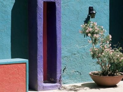 Pastel Coloured Walls in Village, La Placita, Tucson, Arizona, USA by Ruth Tomlinson
