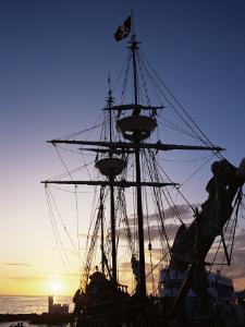 Pirate Ship in Hog Sty Bay, During Pirates' Week Celebrations, George Town, Cayman Islands by Ruth Tomlinson