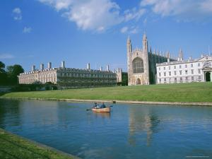 The Backs of the River Cam and Kings College Chapel, Cambridge, Cambridgeshire, England, UK by Ruth Tomlinson