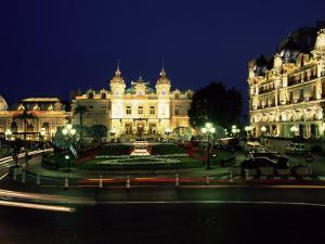 The Casino and Hotel De Paris by Night, Monte Carlo, Monaco by Ruth Tomlinson
