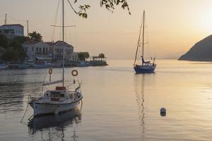 View across the Tranquil Harbour, Dodecanese Islands by Ruth Tomlinson