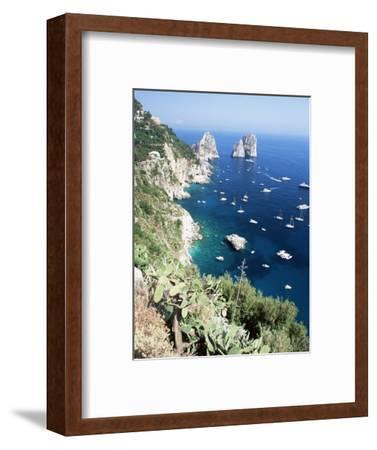 View Over Southern Coast to the Faraglioni Rocks, Island of Capri, Campania, Italy, Mediterranean