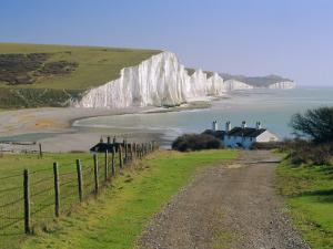 View to the Seven Sisters from Seaford Head, East Sussex, England, UK by Ruth Tomlinson
