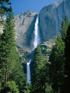 Waterfalls Swollen by Summer Snowmelt at the Upper and Lower Yosemite Falls, USA by Ruth Tomlinson