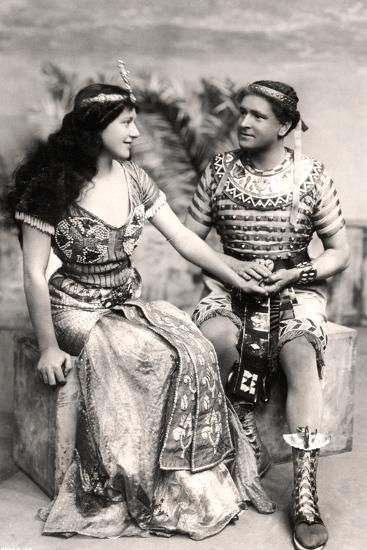 Ruth Vicent (1877-195) and Roland Cunningham in a Scene from Amasis, Early 20th Century--Photographic Print