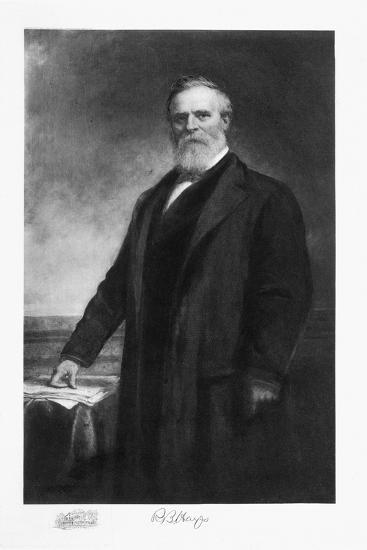 Rutherford B Hayes, 19th President of the United States of America, (1901)-Unknown-Giclee Print