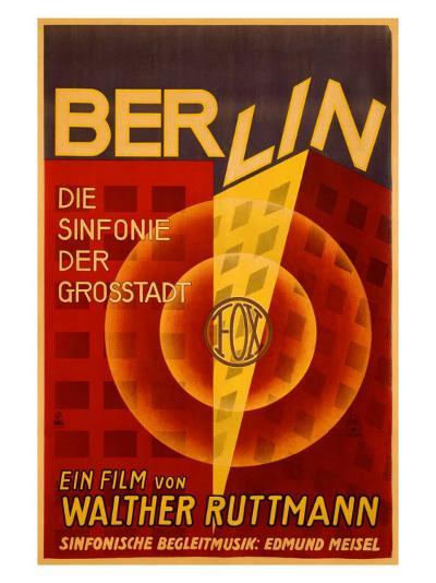 Ruttmann Berlin Symphony of a Great City--Giclee Print