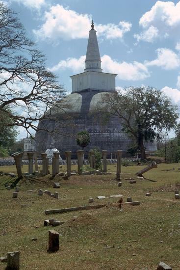 Ruvanvaliseya at Anuradhapura, 2nd century. Artist: Unknown-Unknown-Photographic Print