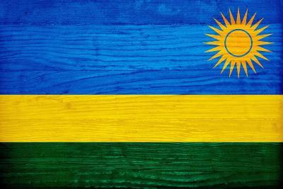 Rwanda Flag Design with Wood Patterning - Flags of the World Series-Philippe Hugonnard-Art Print