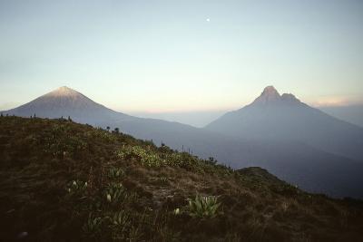 Rwanda Virunga Volcanoes, Karisimbi and Mikeno-Adrian Warren-Photographic Print