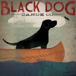 Black Dog Canoe-Ryan Fowler-Art Print