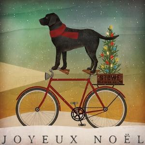 Black Lab on Bike Christmas by Ryan Fowler