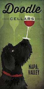 Doodle Wine II Black Dog by Ryan Fowler