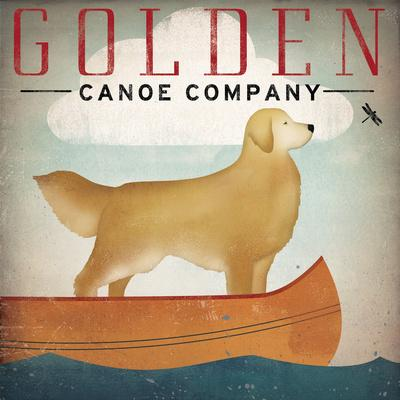 Ryan Fowler 22x28 DOG ART PRINT Black Dog Canoe Co
