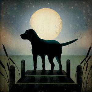Moonrise Black Dog by Ryan Fowler