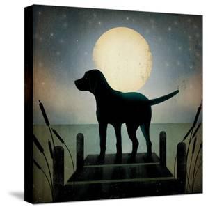 Moonrise Black Dog by Ryan Fowler