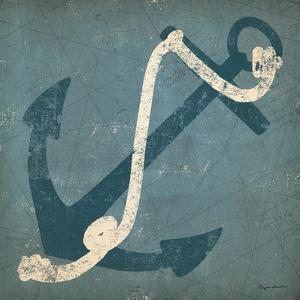 Nautical Anchor Blue by Ryan Fowler