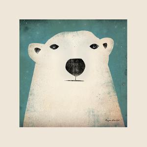 Polar Bear with Border by Ryan Fowler