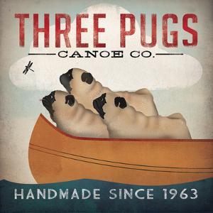 Three Pugs in a Canoe v2 by Ryan Fowler