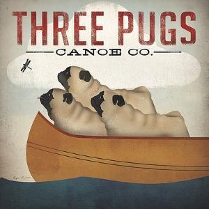 Three Pugs in a Canoe by Ryan Fowler
