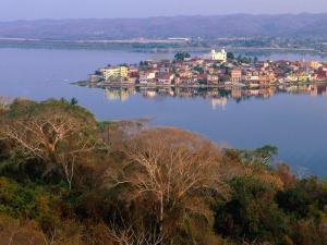 City on Island, Lago De Peten Itza, Flores, Guatemala by Ryan Fox