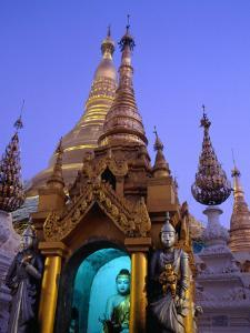 Detail of Buddha Statue at Schwedagon Pagoda, Bagan, Myanmar (Burma) by Ryan Fox
