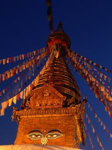 Eyes of the Swayambhunath Stupa, Swayambhunath, Nepal by Ryan Fox