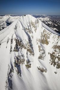 Lone Peak Seen From The Air Big Sky Resort, Montana by Ryan Krueger