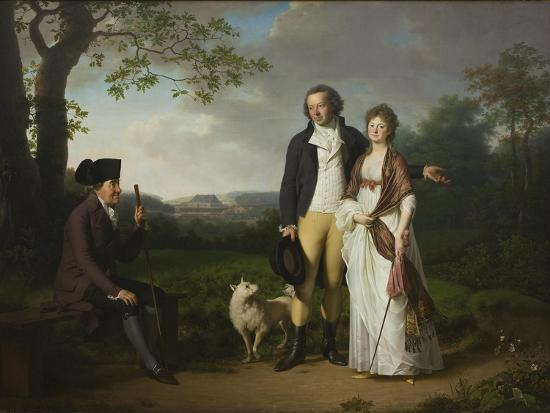 Ryberg with his Son Johan Christian and his Daughter-in-Law Engelke, née Falbe, 1797-Jens Juel-Giclee Print