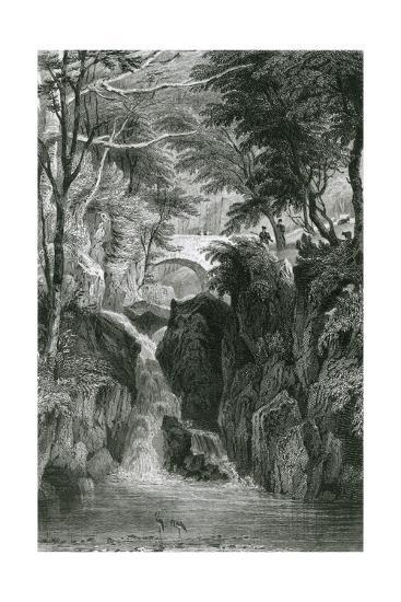Rydal Falls, Lake District-G Pickering-Giclee Print