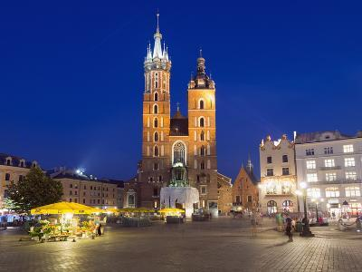 Rynek Glowny (Town Square) and St. Mary's Church-Christian Kober-Photographic Print