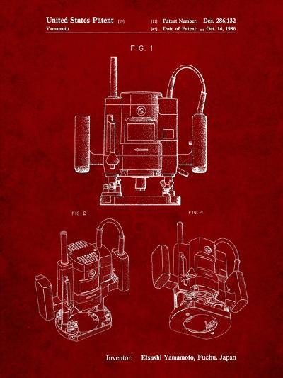 Ryobi Portable Router Patent-Cole Borders-Art Print