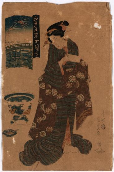 Ryogoku No Hanabi-Utagawa Toyokuni-Giclee Print
