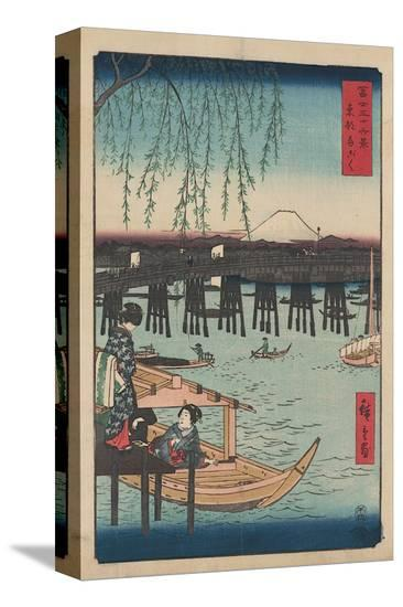 Ryogoku-Ando Hiroshige-Stretched Canvas Print
