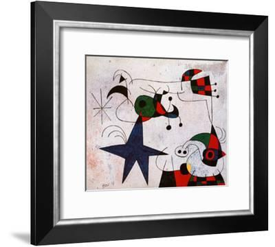 Rythme Passage du Serpent-Joan Miro-Framed Art Print